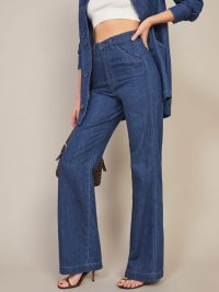 Reformarion Trouser Jean in indigo | flared jeans