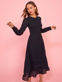 REFORMATION Valerie Dress in Black ~ lbd