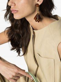 VALET STUDIO Rita tortoiseshell drop fan earrings / statement drops