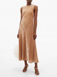 SIES MARJAN Viv flared velvet-corduroy dress in beige ~ luxe fit and flare