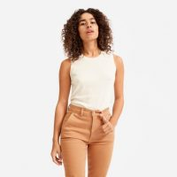 EVERLANE The Cashmere Tank in Off-White / luxury sleeveless top