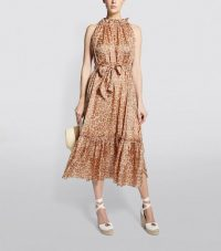 Zimmermann Kirra Tie-Shoulder Maxi Dress ~ leopard prints