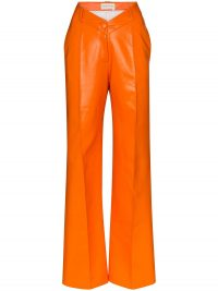 ALEKSANDRE AKHALKATSISHVILI V-waist wide-leg trousers in orange