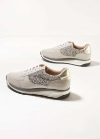 MINT VELVET Alina Spot Leather Trainers