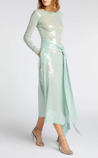 ROLAND MOURET ANGELO DRESS in SEAGREEN ~ luxe event dresses