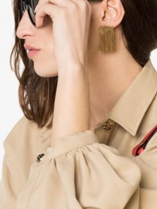 Anissa Kermiche Gold Vermeil Fil D'or Earrings ~ modern fringed jewellery