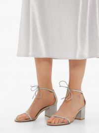 GIANVITO ROSSI Aria 60 crystal-embellished block-heel sandals in silver