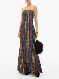 MARY KATRANTZOU Ava flared sequinned gown – glittering multicoloured sequinned gowns