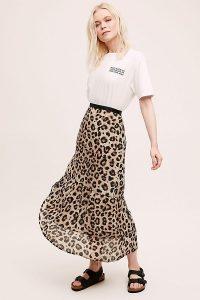 Pyrus Maida Leopard-Print Midi Skirt Brown Motif