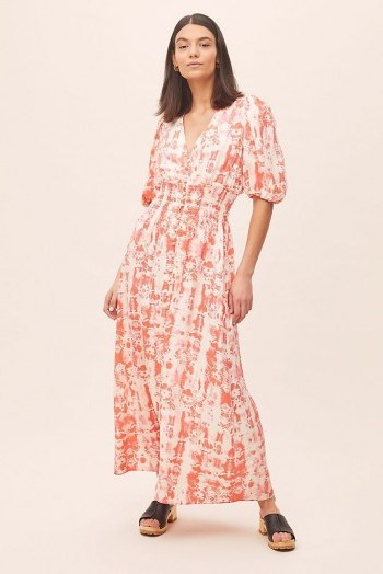 ANTHROPOLOGIE Ivy Printed Maxi Dress Red Motif - flipped