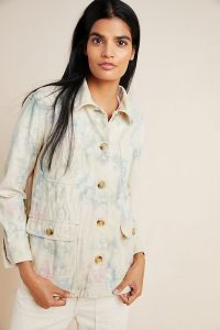 ANTHROPOLOGIE Tie-Dyed Utility Jacket in Novelty