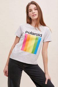 Polaroid-Logo Tee in Grey