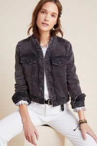 Anthropologie Bibiana Bomber Jacket in Black