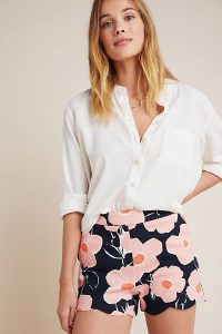 Georgie Scalloped Shorts in Pink