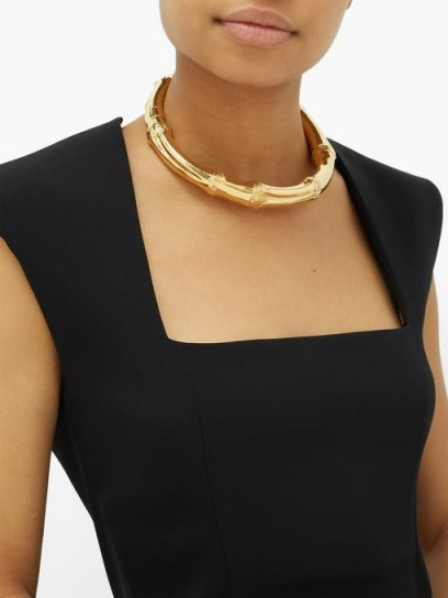 BOTTEGA VENETA Bamboo choker gold-vermeil necklace – designer chokers