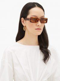 KALEOS Barbarella tortoiseshell-acetate sunglasses – rectangular frames