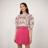 WAREHOUSE BELTED PELMET SKIRTS BRIGHT PINK