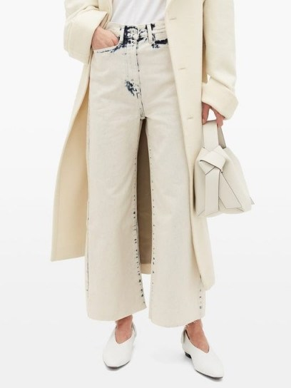 PROENZA SCHOULER WHITE LABEL Bleached wide-leg jeans in ivory - flipped