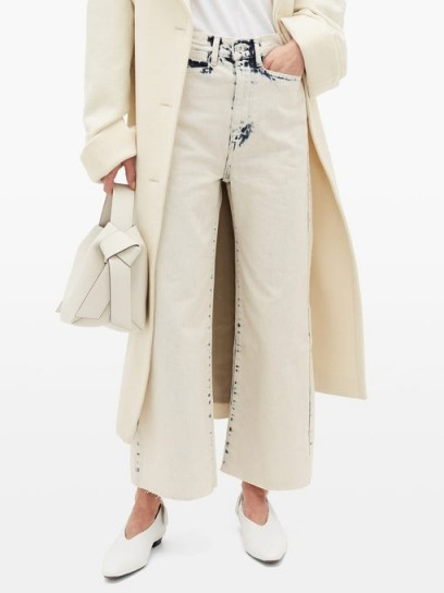 PROENZA SCHOULER WHITE LABEL Bleached wide-leg jeans in ivory