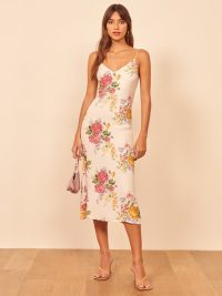 REFORMATION Boston Dress in Bouquet / strappy dresses