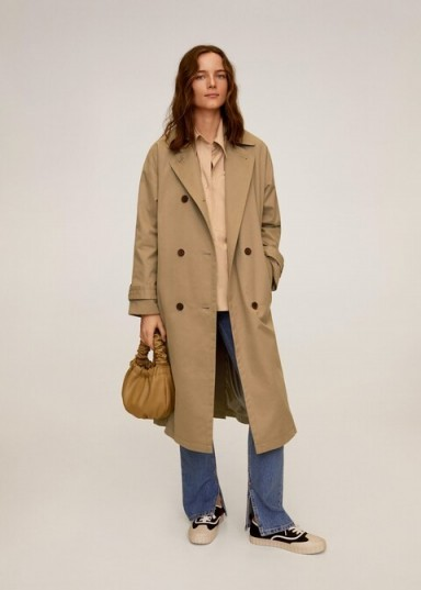 MANGO Buttoned long trench in beige REF. 67094753-MAGNUM-LM