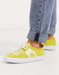 Camper Imar trainer in yellow suede – bright sports luxe trainers