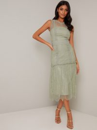 Chi Chi Vaeda Dress in Green – vintage style occasion dresses