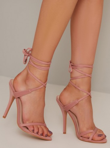 Chi Chi Vanesa Heels – ankle wrap barely there sandals