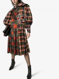 Chopova Lowena Check Print Kilt Midi Dress / tartan prints