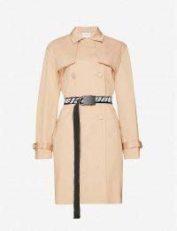 CLAUDIE PIERLOT Gaelle stretch-cotton coat in beige