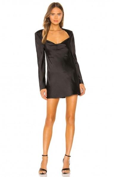 C/MEO x REVOLVE Polarised Dress in Black – open back mini – LBD - flipped