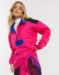 Columbia Santa Ana anorak jacket in pink in cactus pink/black – bright outdoor clothing