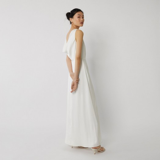 Cowl Back Bridesmaid Dress: WAREHOUSE COWL BACK BRIDESMAID DRESS WHITE
