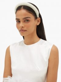 GERMANIER Crystal-embellished headband in white | headbands with iridescent crystals
