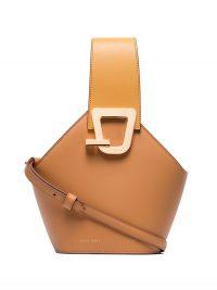 DANSE LENTE mini Johnny bucket bag / small brown-tone handbag