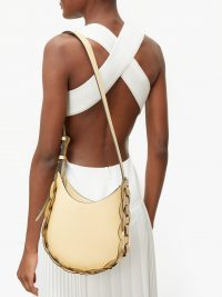 CHLOÉ Darryl small yellow-leather shoulder bag