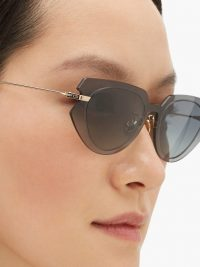 DIOR EYEWEAR DiorAttitude2 cat-eye acetate sunglasses in grey – blue gradient lenses