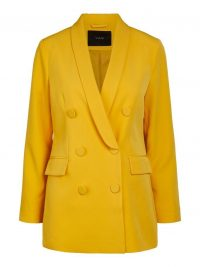 YAS DOUBLE BREASTED BLAZER Gold / Golden Rod