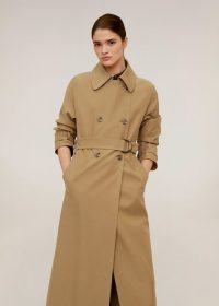 MANGO Double breasted trench in tobacco brown REF. 67054403-TOBACCO-LM