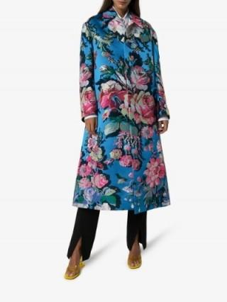 Dries Van Noten Ruberta Floral Print Oversized Coat / statement outerwear