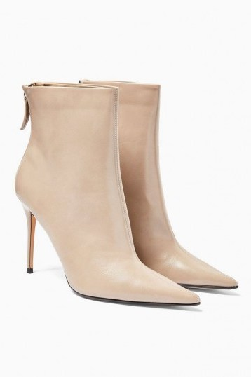 TOPSHOP EDA Taupe Point Boots - flipped