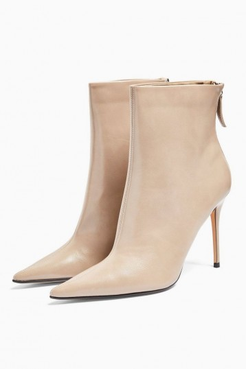 TOPSHOP EDA Taupe Point Boots