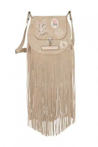 SPELL and the GYPSY COLLECTIVE ERIN EVENING BAG Dove | fringed shoulder bags | festival style handbags