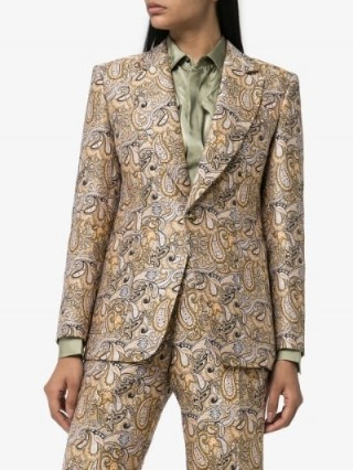 Etro Paisley Print Single-Breasted Blazer / luxe suit jackets