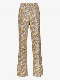Etro Printed Silk Cotton Tailored Trousers in Paisley