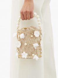 ROSANTICA Fresia crystal-embellished bag | luxe party accessory