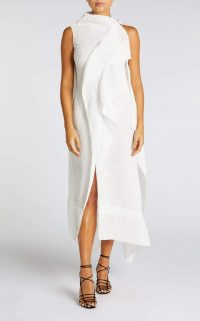 ROLAND MOURET FRYE DRESS in WHITE ~ chic event wear