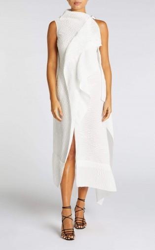 ROLAND MOURET FRYE DRESS in WHITE ~ chic event wear