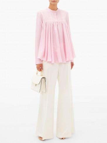 GIAMBATTISTA VALLI Gathered silk crepe de Chine blouse – matches fashion
