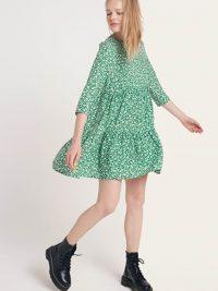 Nobodys Child Khaki Vivienne Smock Midi Dress